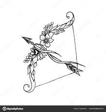 фото стрела эскиз эскиз лук и стрелы на белом фоне стоковое