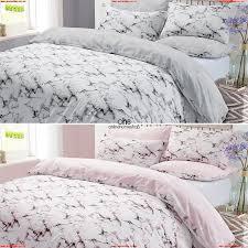 dreamscene marble duvet cover pillowcase bedding set single double king grey 1ceba3dy