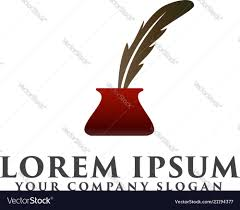 Feather Pen Logo Design Feather Pen Logo Design Concept Template