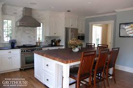 black walnut butcher block kitchen island tops designed by home supply inc for a transitional kitchen