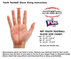 Youth Glove Size Chart Football Performance Gloves