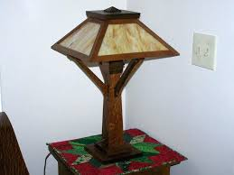 table lamp tiffany mission style table lamps antique oak lamp with green slag glass arts picture base floor at in bronze solar way fabric ceiling