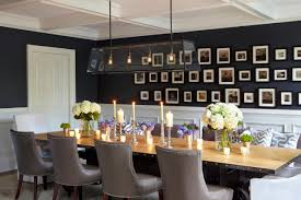 contemporary dining table decor. 1: Gallery Wall. Contemporary Dining Room Table Decor E