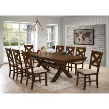 9 piece solid wood dining set with table and 8 chairs today overstock 11691458