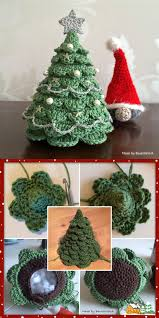 Crochet Christmas Tree Pattern Impressive DIY Crocheted Christmas Tree With Free Pattern