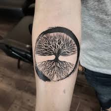 Tree Of Life In Zen Circle Done For Inkcraft Tattoo Studio