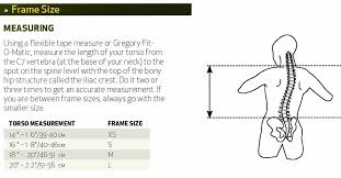 Gregory Size Chart Internal Frame Backpack Measurement Guide For When The Old