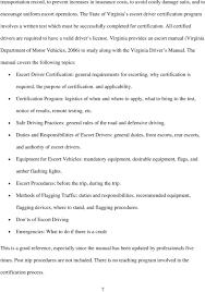 Light Vehicle Driver Duties And Responsibilities Development Of The Pilot Car Driver Certification Program