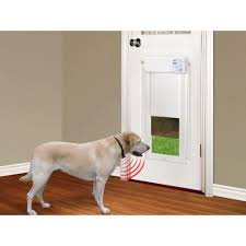 electronic dog doors. The High Tech Pet Products In. X 16 Electronic Fully Automatic Dog Door DeluxPak With Free Additional Ultrasonic Collar Is Motor Driven. Doors T