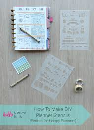 how to make diy planner stencils using your cricut perfect for happy planners