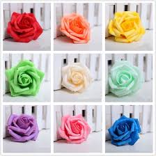 100 pieces lot 7cm wedding decorative flowers handmade rose