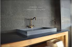 close 27 gray granite stone bathroom sink corsica