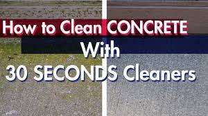 how to clean concrete without a
