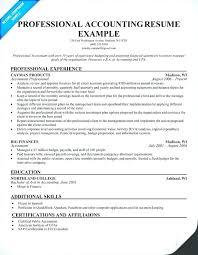 Professional Accountant Resume Sample Of Accountant Resume Albertogimenob Me