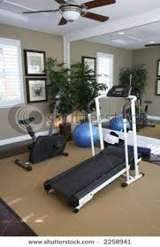 home exercise room, adding a mirror would make the room appear larger