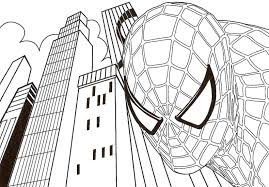 Small Picture Coloring Pages Printable Spiderman Coloring Pages