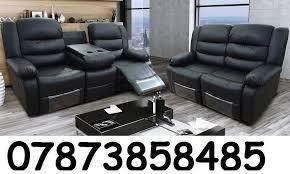 lazyboy black 3 2 leather recliner sofa