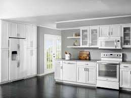 White Shaker Kitchen Cabinets Grey Floor Kitchen Paint Colors With