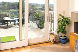 exterior dog door sliding glass with built in pet for screen storm