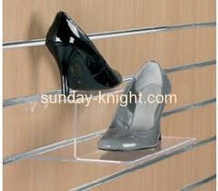 Footwear Display Stands Acrylic shoe display stand on wall SSK100 Acrylic shoe display 78