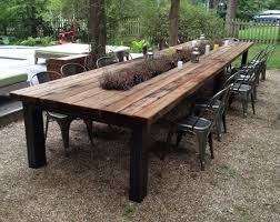 outdoor table. Reclaimed Wood Outdoor Furniture Rustic Tables Intended For Wooden Patio Dining Table Prepare