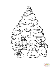 Small Picture Christmas Tree with Gift Boxes coloring page Free Printable