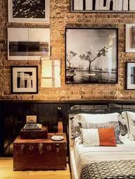 exposed brick bedroom design ideas. Masculine Rooms La Dco Au Masculin Dark Wood Exposed Brick And Trunks Home Design Ideas Bedroom