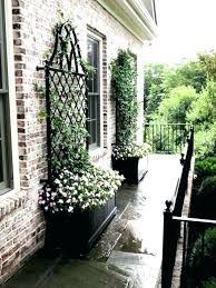 metal trellis panels plant garden trellises pots with ancd to the brick wall decorative uk metal trellis
