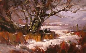 first snow chinamans bluff reesvalley painting370 pa beach studiofinal370 pear colorstudy2 370
