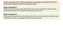 cross media convergence and synergy essay plan