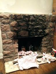 painting rock fireplace ideas paint or not faux stone design gas stones fabulous large i
