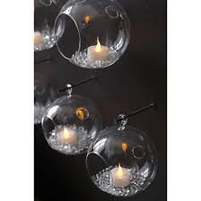 Hanging Glass Tea Light Spheres Whirly Hanging Candle Holder Cb2 Hanging Candles