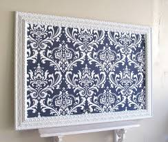 Navy Blue MAGNET BOARD Wedding Escort Card Holder Damask Bulletin Decorative Bulletin Boards For Home