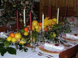 Wonderful Christmas Table Arrangements Martha Stewart With Modern Cutlery  Set And Red And White Candles Also Some Fruits At Wooden Tables For  Decoration ...