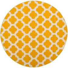 montauk yellow ivory 6 ft x 6 ft round area rug
