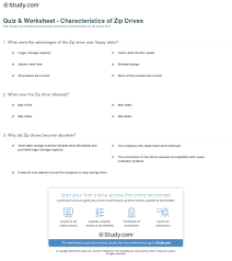 quiz worksheet characteristics of zip drives com print what is a zip drive definition concept worksheet