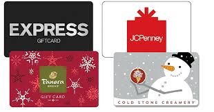 10 off gift cards jcp express panera b daily deals