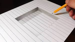 how to draw a step in line paper easy 3d trick art