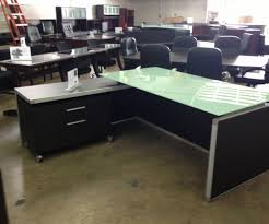 glass desks for office. Medium-size Of Ritzy Office Desk Plus Glass L Shaped And Filecabinet Desks For