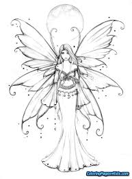 Fairy Coloring Pages For Adults 15 Linearts For Free Coloring On