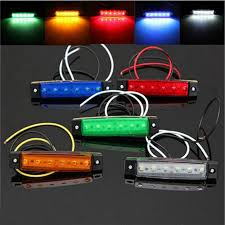 1PC 6LED Clearence BOAT BUS Truck Trailer Side Marker ...