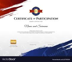 Certificate Template In Rugby Sport Theme With