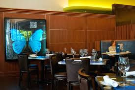 seafood fine dining hospitality interior design of blueacre seafood restaurant seattle erfly wall art as interior decoration