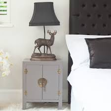 Tables For Bedrooms Rama Sita Slate Grey Bedside Cabinet Bedside Tables Tables