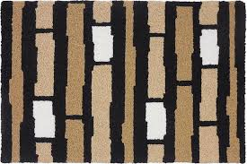 details about modern rugs area rug stripes black tan beige by jellybean