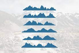 Mountain svg mountains svg file mountain clipart camping   etsy. 6 Mountains Silhouette Landscape In Panoramic Illustration 763365 Logos Design Bundles