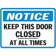 please lock door. Closed%20door%20sign . Please Lock Door