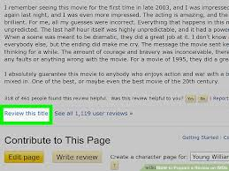 how to prepare a review on imdb steps pictures  image titled prepare a review on imdb step 8