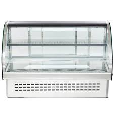 glass drop in refrigerated countertop display cabinet main picture
