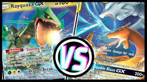 Reshiram & Charizard GX vs Rayquaza GX - Pokemon TCG tabletop gameplay -  YouTube
